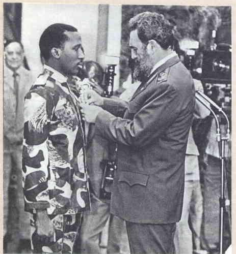 Томас Санкара и Фидель Кастро